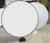 Světelná reklama kruhová, průměr 500 mm, rovné plexi