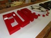 Styrodur 3D písmena se zpevněným čelem - plasticita 33 mm