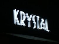 Krystal – neon na Dibondu s podlepem fólií