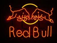 Red Bull – minineon na konstrukci