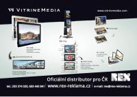 Rex jako oficiální distributor VitrineMedia pro ČR