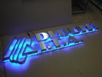 Podsvícené písmo kartáčovaná nerez s LED