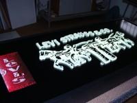 AL reklama s lakovaným rámem v čele 3D plexi písmo