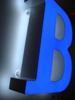 Blok LED písmeno s čelním a zadním prosvícením