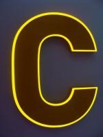 Blok LED písmeno s čelní světelnou konturou