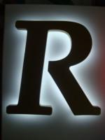 Blok LED písmeno se zadním podsvícením