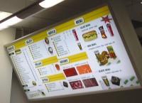 Velkoplošný menuboard s klap rámem
