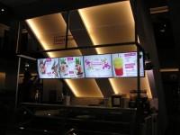 Alu menuboard s předpruženými plexi
