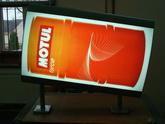 Reklama s vypouklým plexi