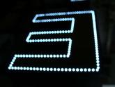 3D písmena s konturou z LED - Detail